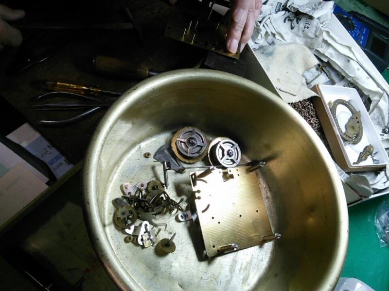 錘式の時計の修理